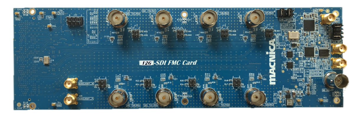 Top view of 12G-SDI FMC Card R